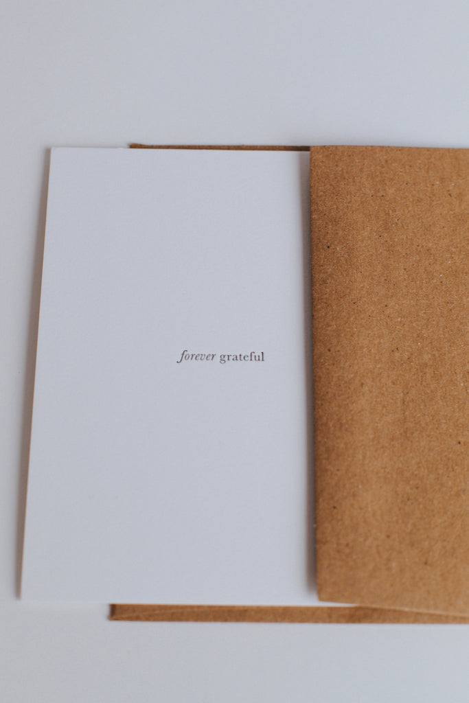 Forever Grateful Card | ROOLEE