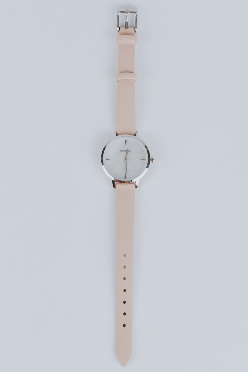 Simple and Modern Blush Watch for Women | ROOLEE