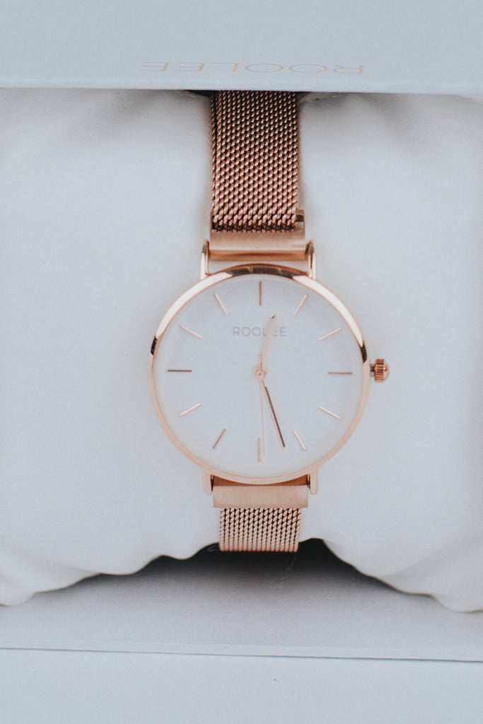 Rose Gold Mesh Watch | ROOLEE