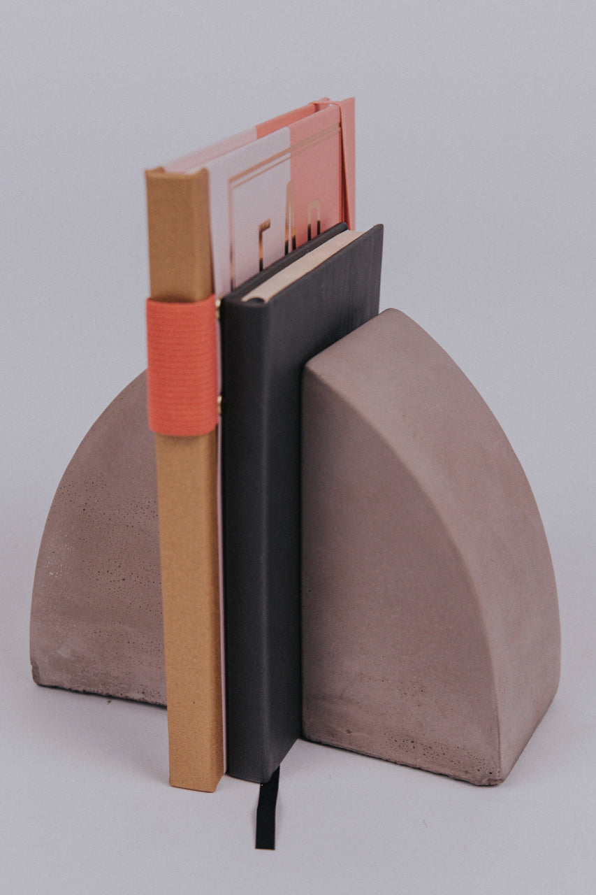 Geometric Cement Bookends | ROOLEE Home