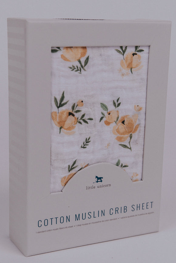 Soft fitted crib sheet for baby nursery | ROOLEE Kids