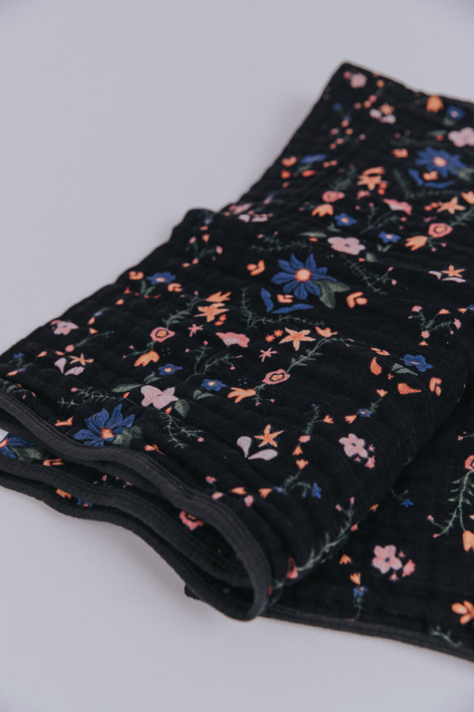 Floral Embroidered Cotton Quilt | ROOLEE Kids