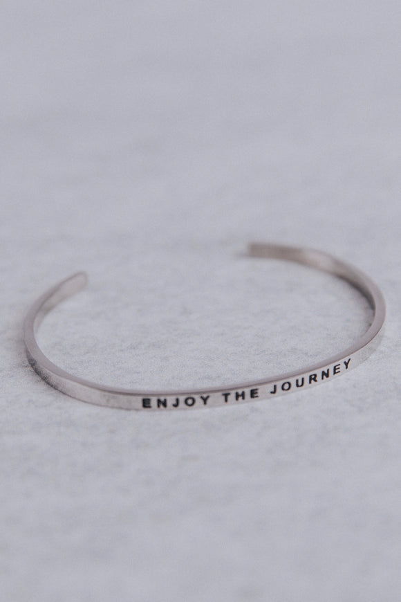 Enjoy The Journey MantraBand in Silver | ROOLEE