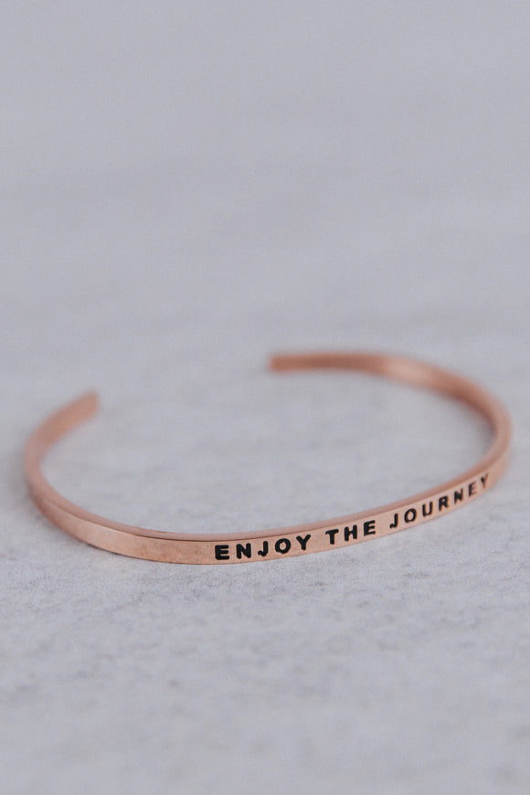 Enjoy The Journey MantraBand in Rose Gold | ROOLEE