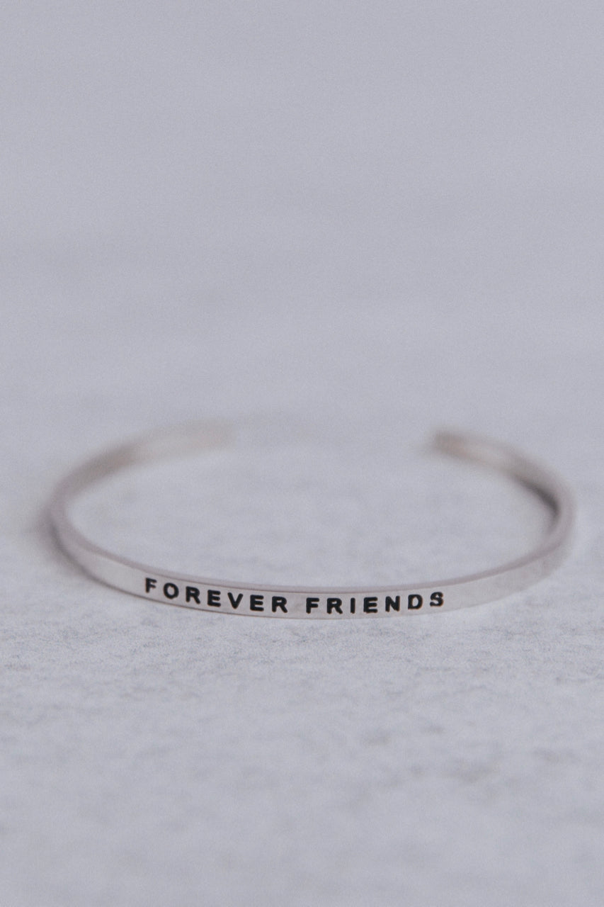 Forever Friends Mantraband in Silver | ROOLEE