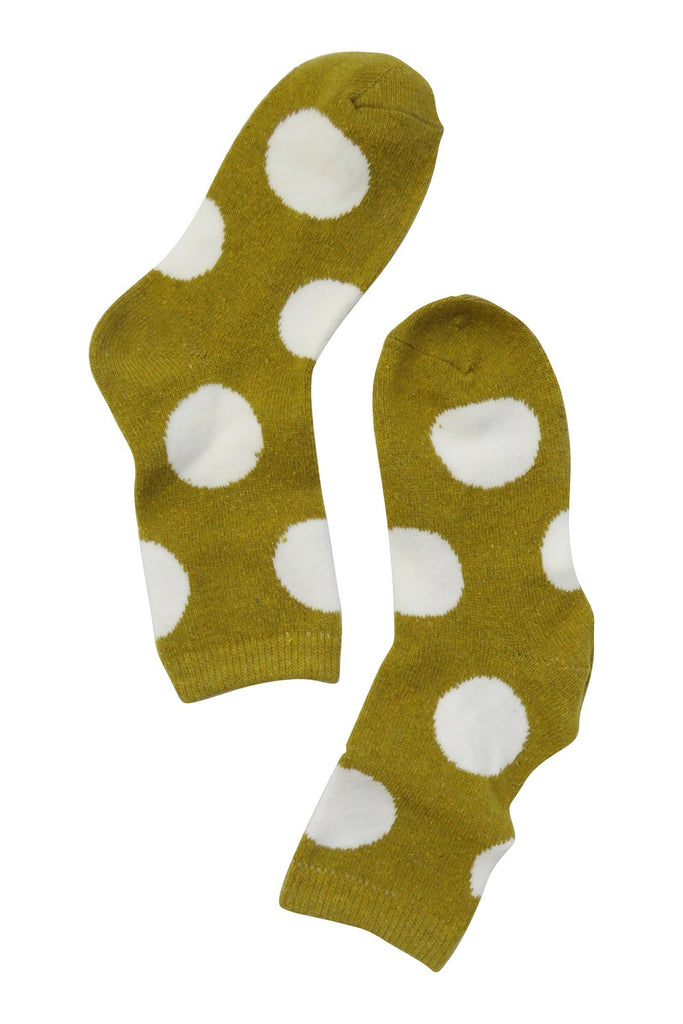 Polka Dot Socks in Mustard