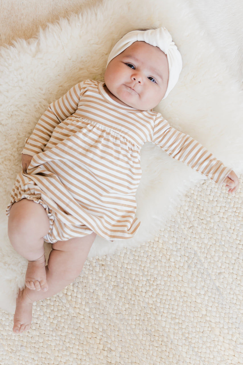 Striped Long Sleeve Baby Dress | ROOLEE
