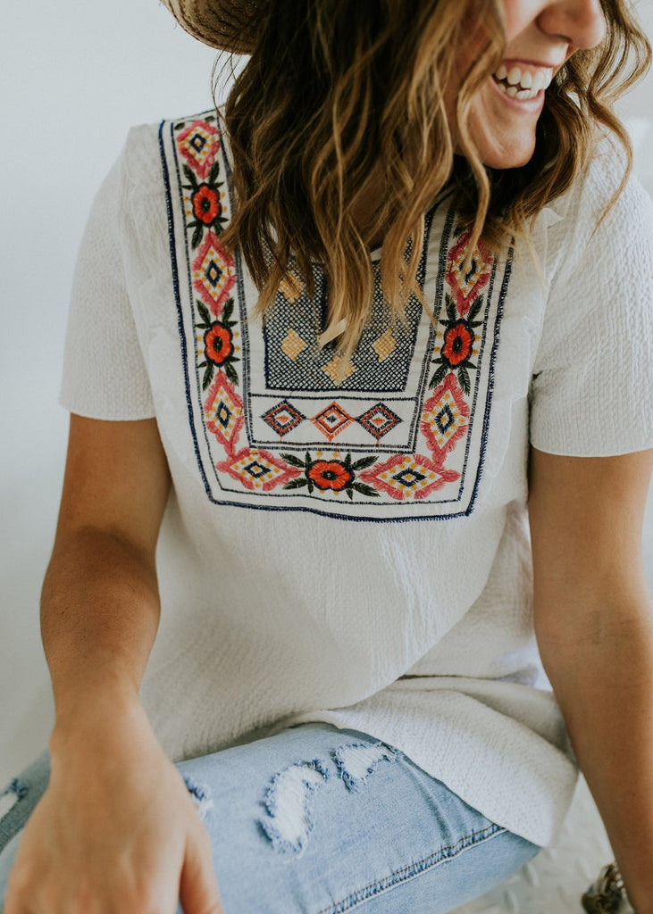 Colorful Embroidery Top | ROOLEE