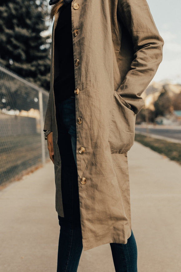The Monroe Overcoat in Taupe