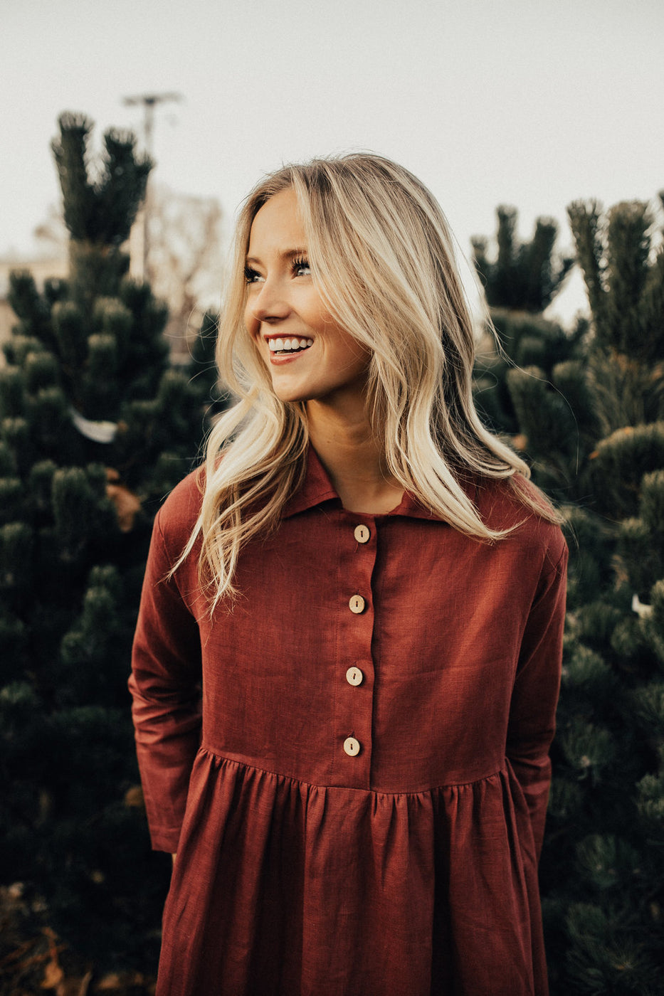 The Delacour Dress in Burgundy