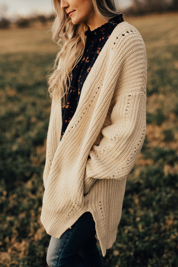Free People Nightingale Cardi in Cream