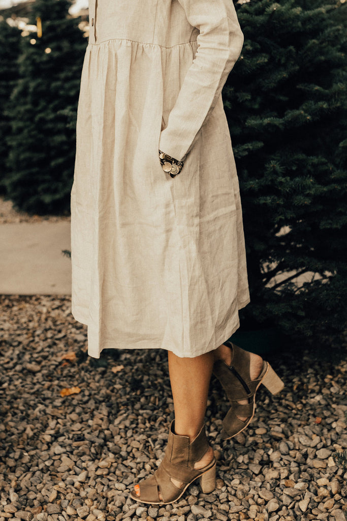 The Delacour Dress in Cream
