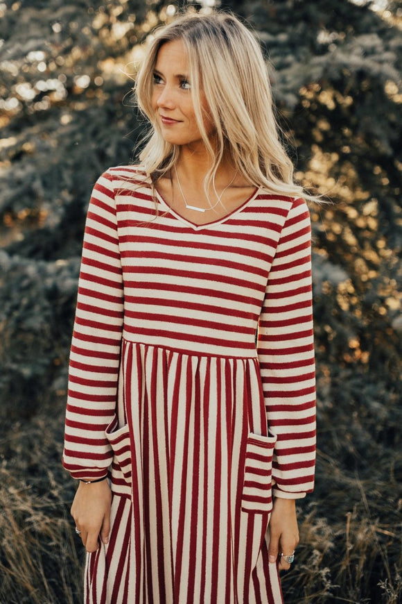 Holly Stripe MOM Dress