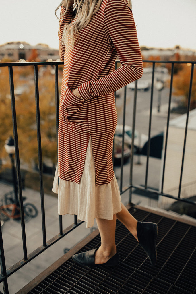 Queen of Hearts Stripe Dress