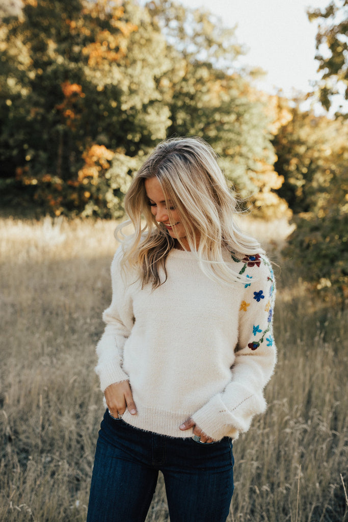 Birch Embroidered Sweater