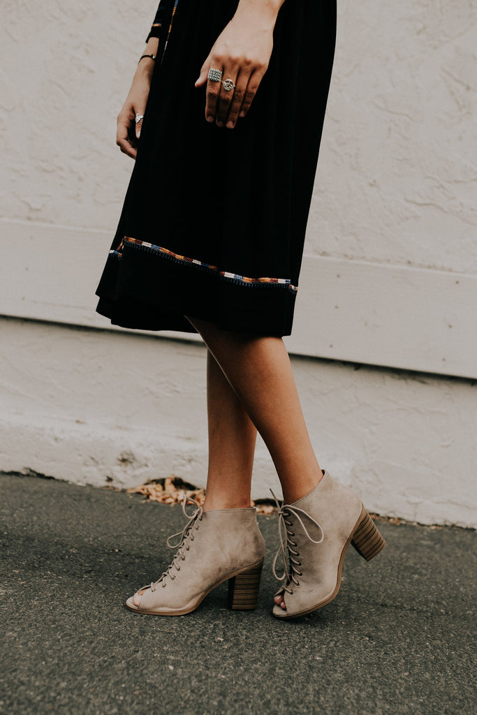 Jamison Lace-Up Heels