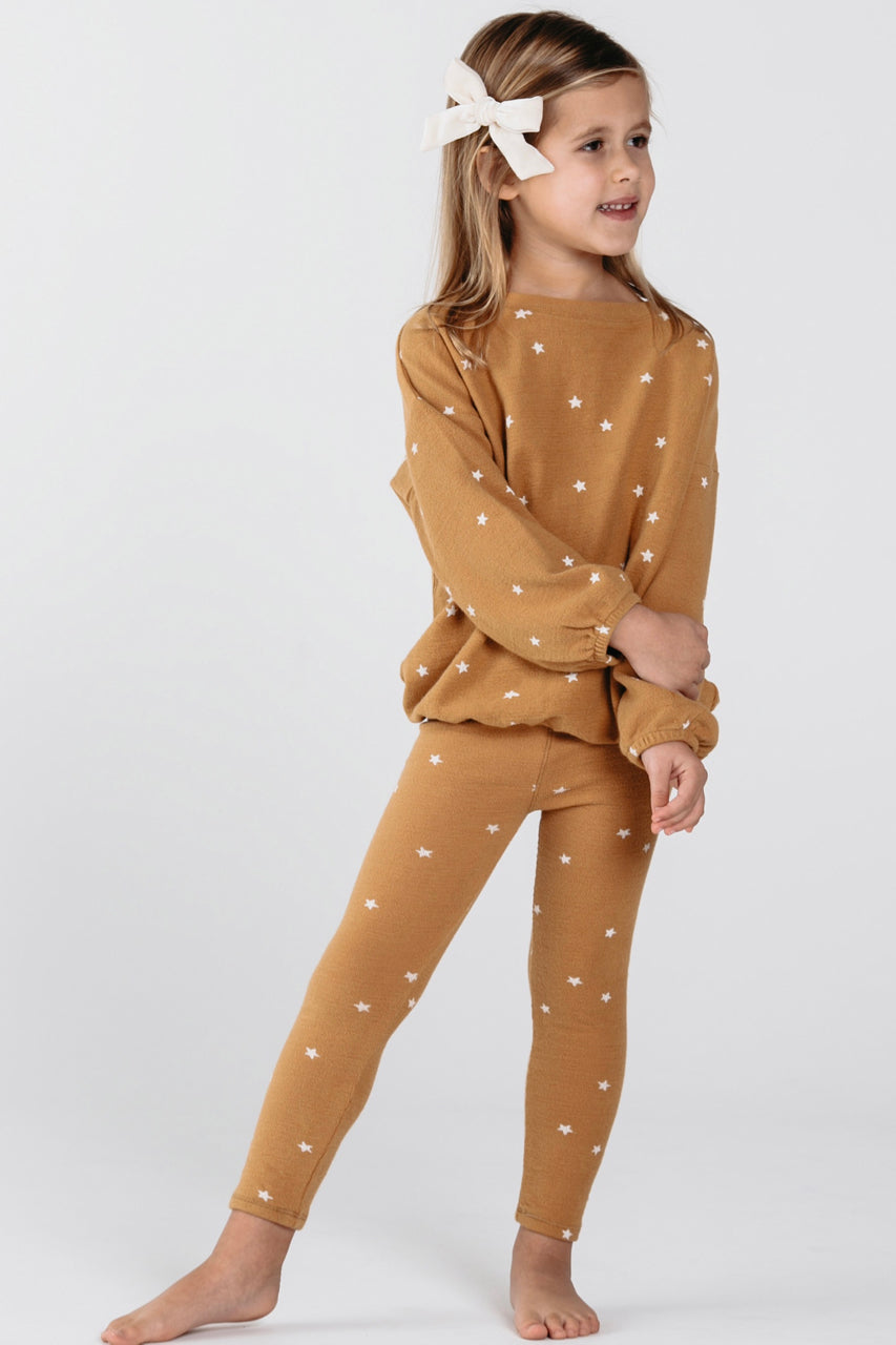 Gold Legging Set For Kids | ROOLEE Kids