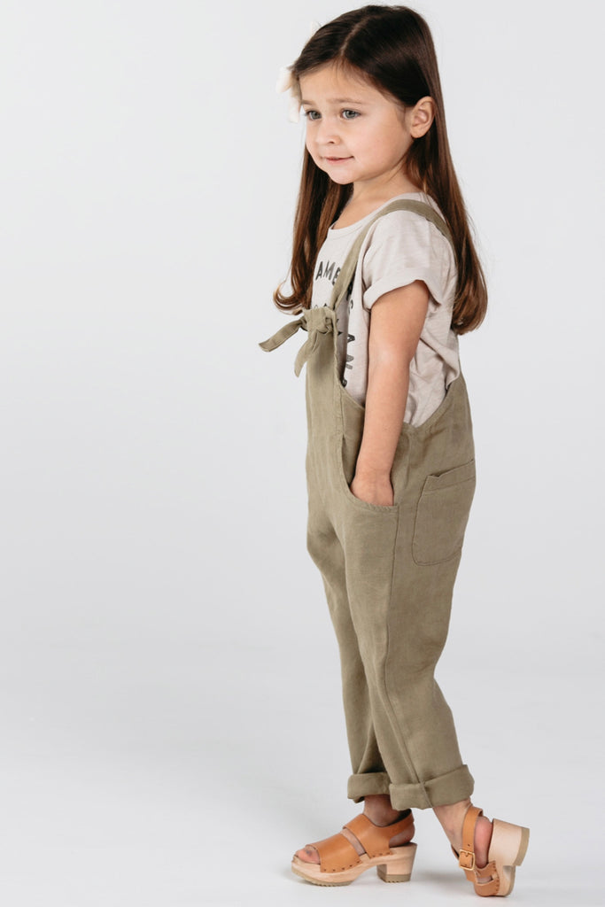 Cute Comfy Overalls With Ties For Kids | ROOLEE Kids