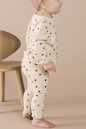 Polka Dot Baby Sweatsuit Outfit | ROOLEE