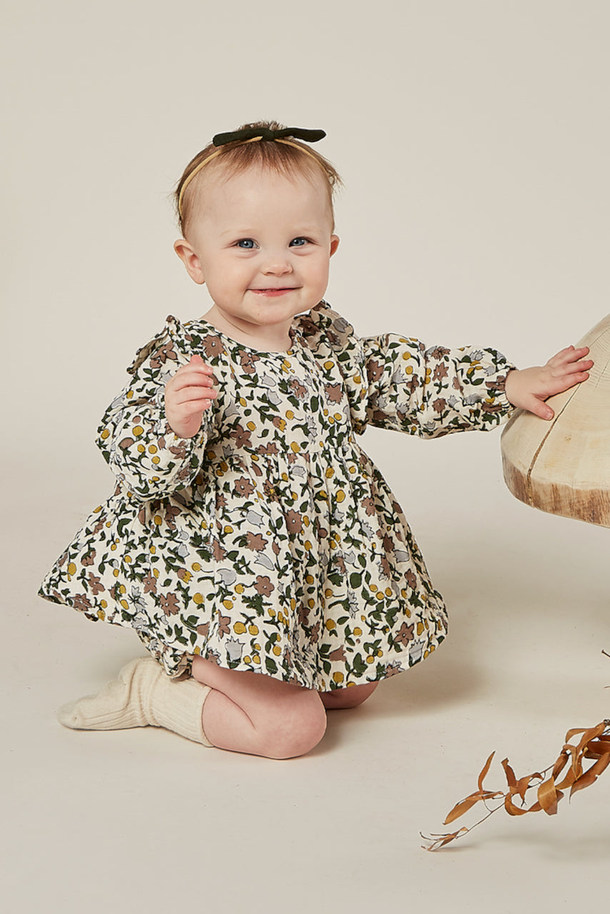 Printed floral dresses for baby | ROOLEE