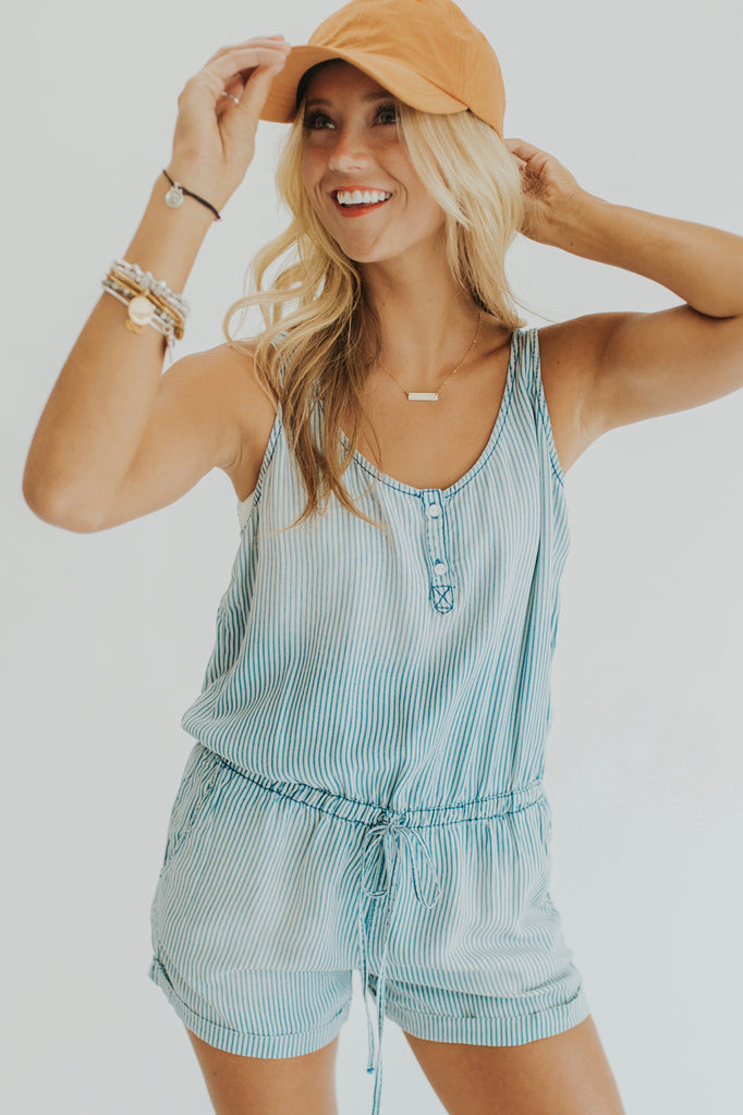 Cute And Comfy Stripe Romper For Women | ROOLEE