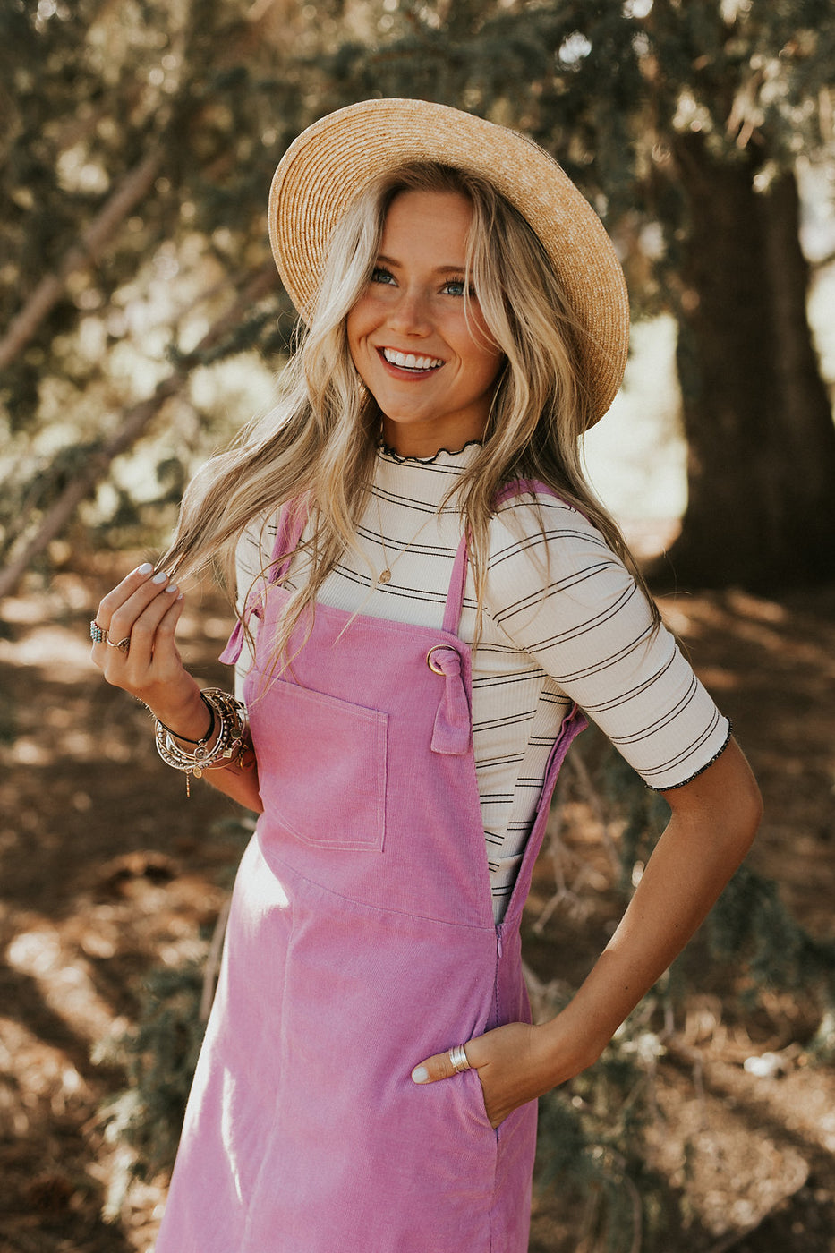 The Penny Dress in Lavender Corduroy | ROOLEE