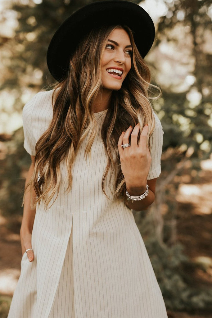 Silver Linings Dress in Cream | ROOLEE