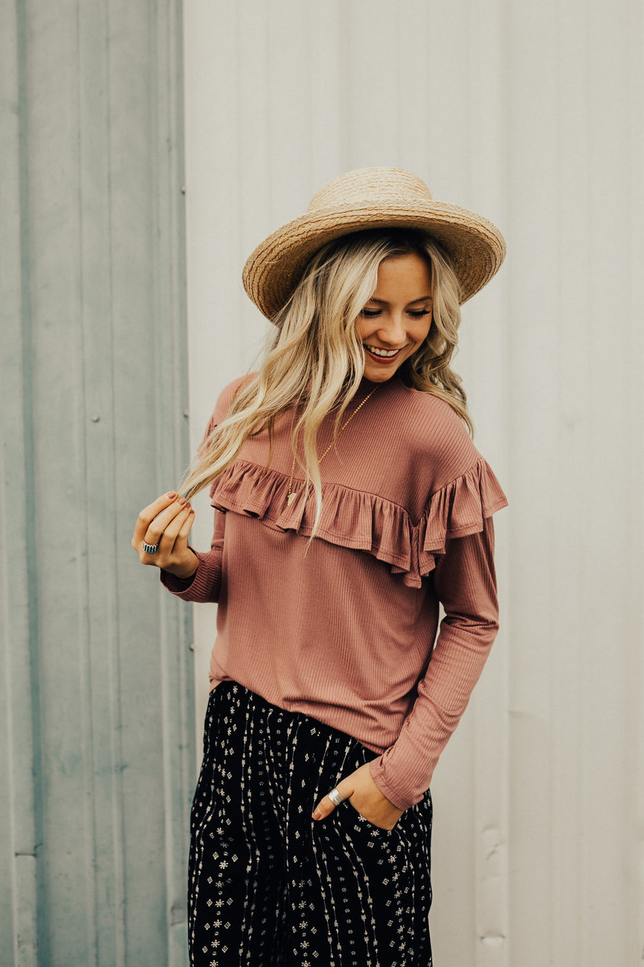 Talk The Talk Ruffle Blouse