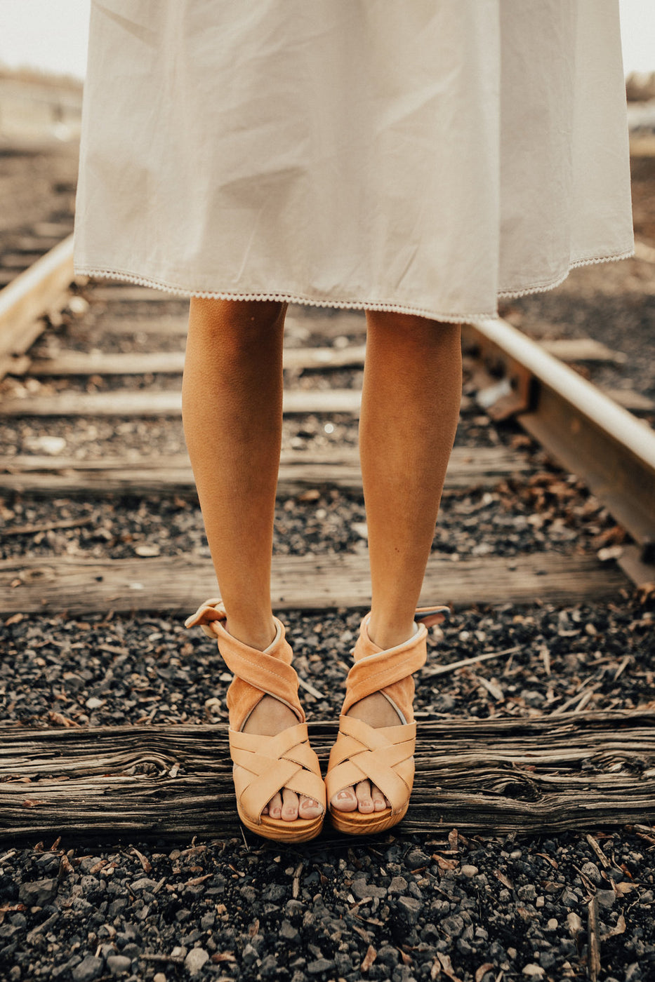 Free People Emmy Wrap Clog in Natural
