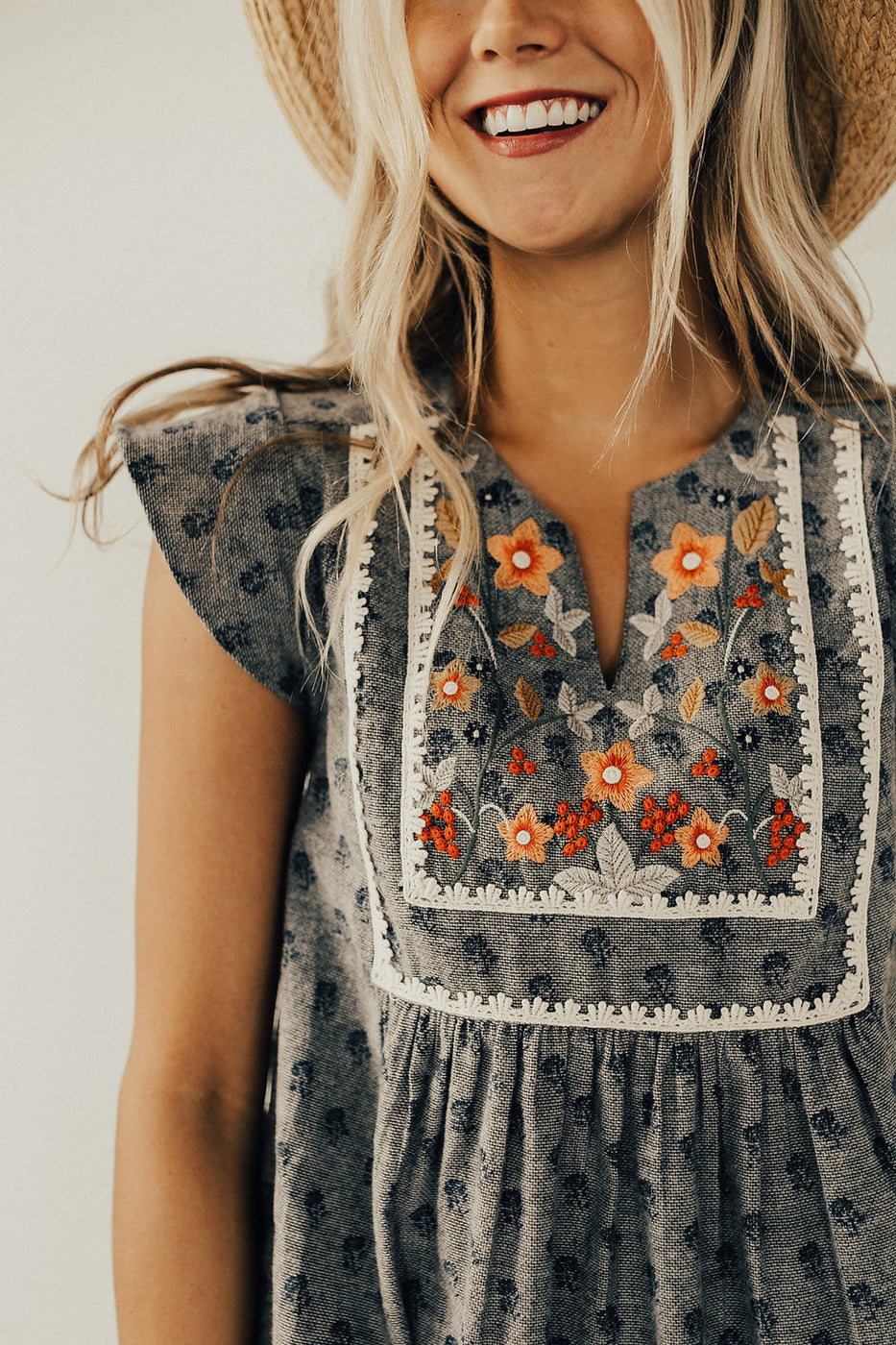 Penelope Embroidered Dress