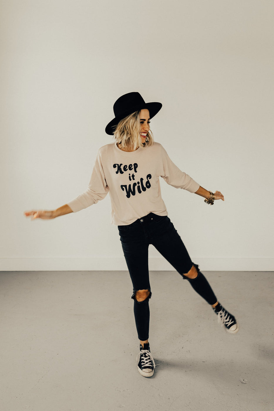 'Keep it Wild' Slouch Top