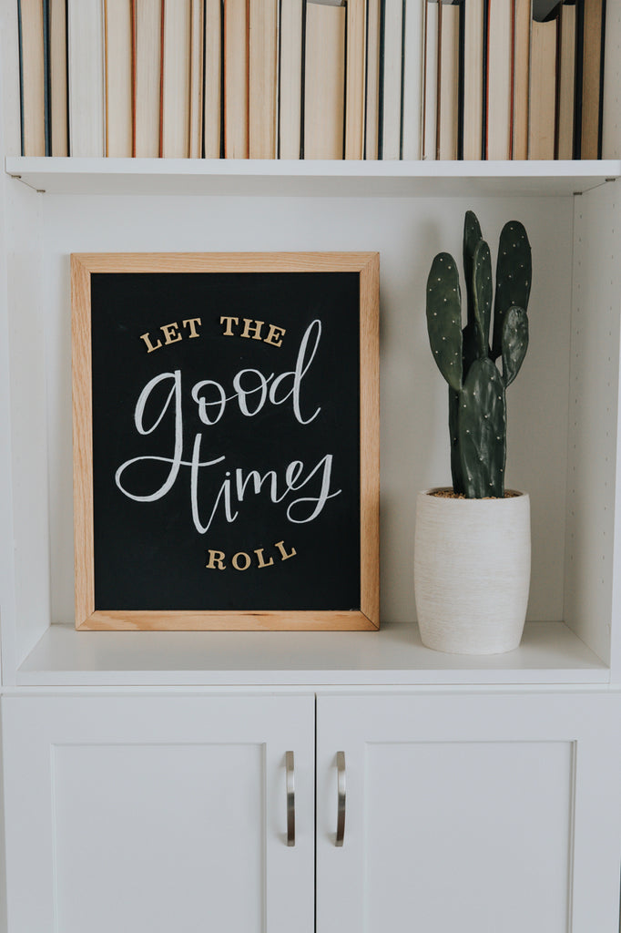 Magnetic Letter Board Kit in Black | ROOLEE Home