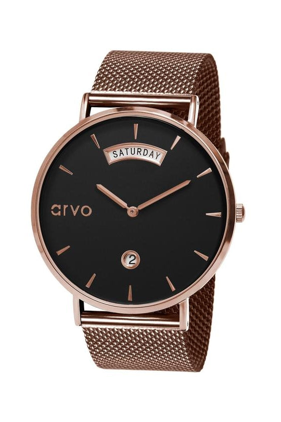 arvo-arwistacrat-rose-gold-mesh-band-black-face