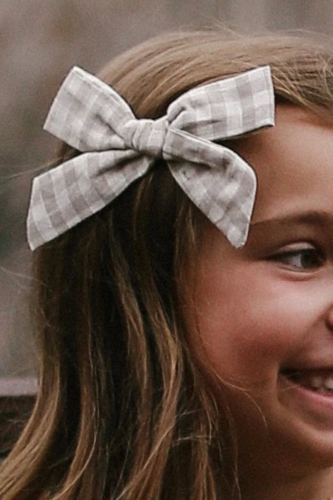Gingham Bow For Girls | ROOLEE