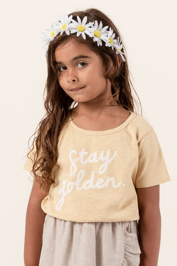 Crew neck yellow kids top | ROOLEE