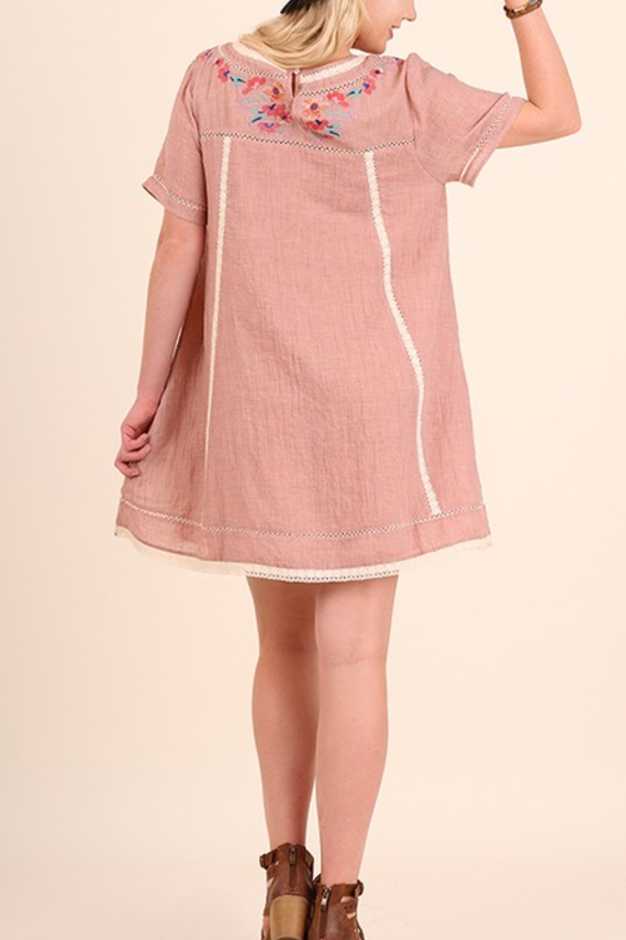 Rhea Embroidered Tunic in Rose