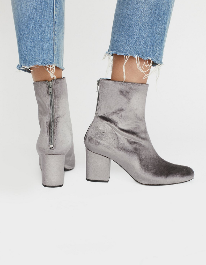 Free People Velvet Cecile Ankle Boot