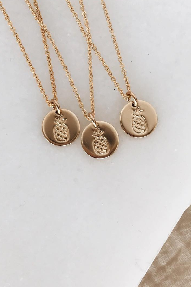 Pineapple Disc Necklace