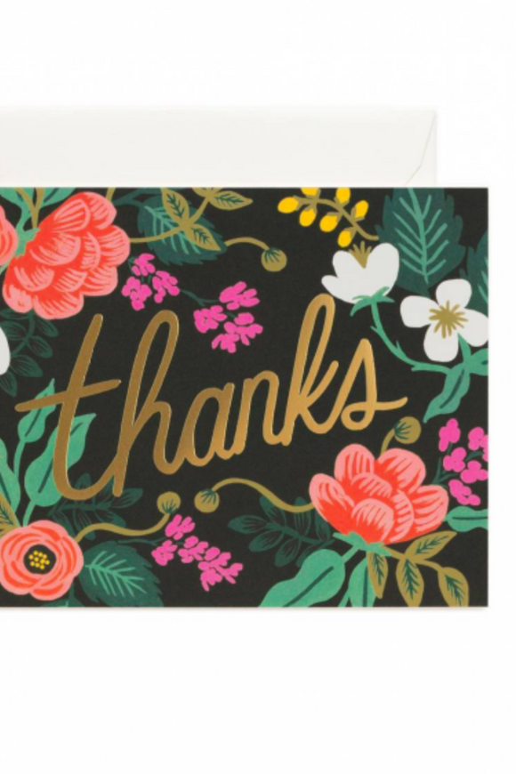 Birch Floral Thank You Card | ROOLEE