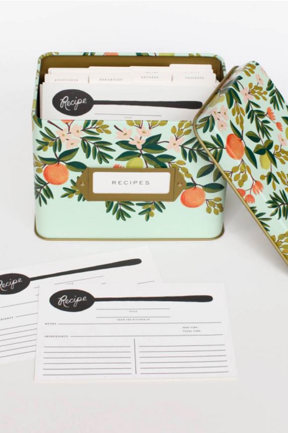 Citrus Floral Recipe Box | ROOLEE Home