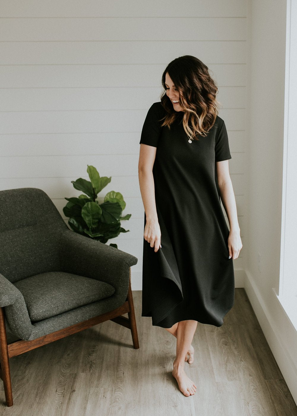 MOM Textured Easy Dress