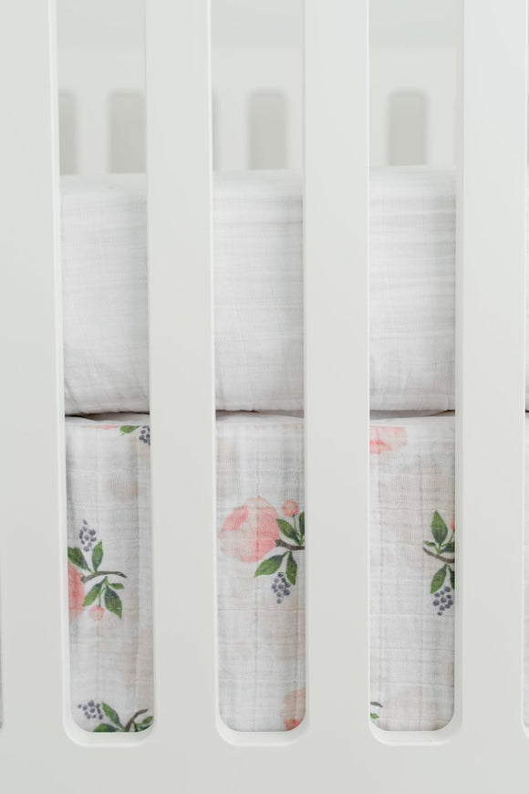 Watercolor Rose Crib Skirt