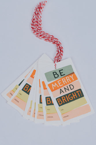 Be Merry And Bright Gift Tag Set | ROOLEE Home