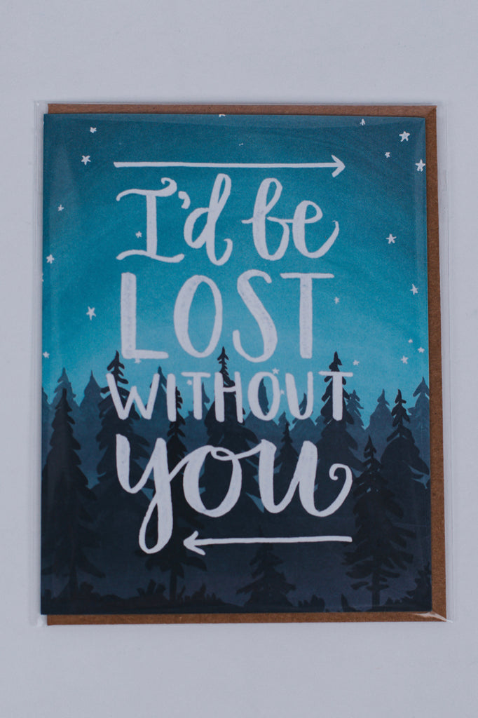 Lost Without You Card | ROOLEE