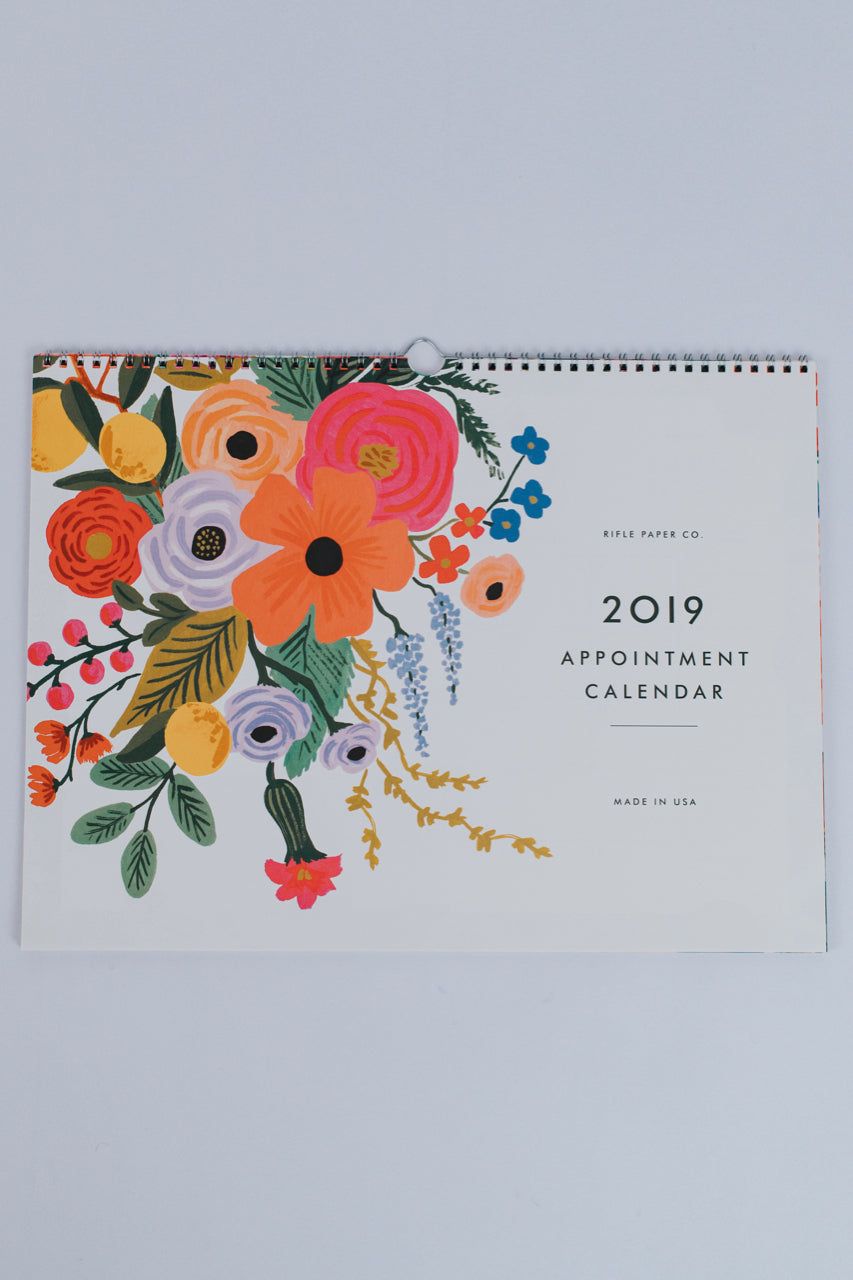 2019 Garden Party Appointment Calendar | ROOLEE Home