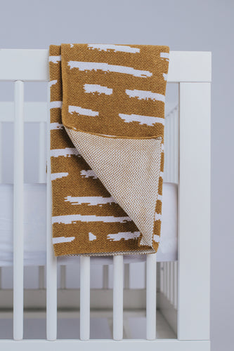 Mustard Baby Throw Blanket | ROOLEE