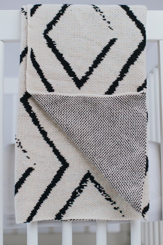 Black and White Baby Throw | ROOLEE