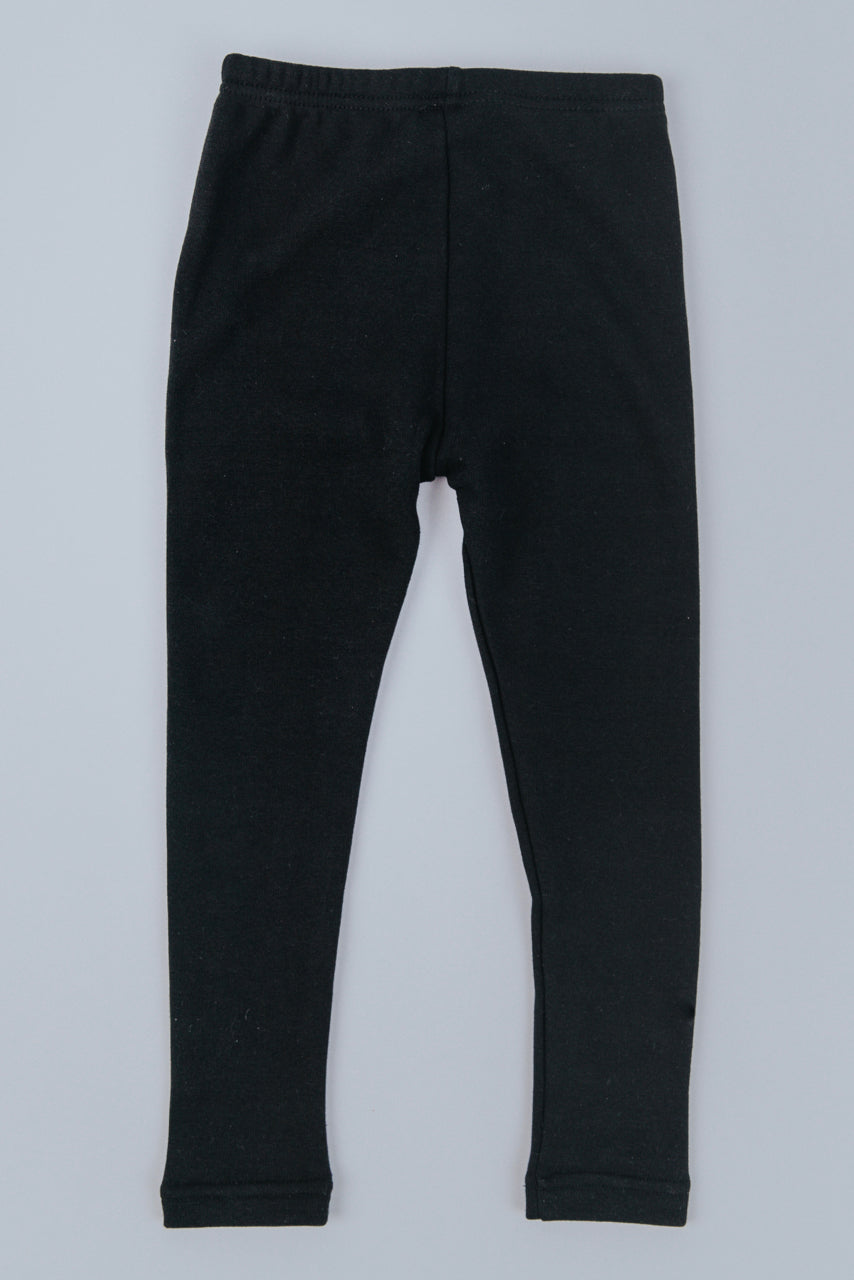 Black Fleece Lined Leggings | ROOLEE