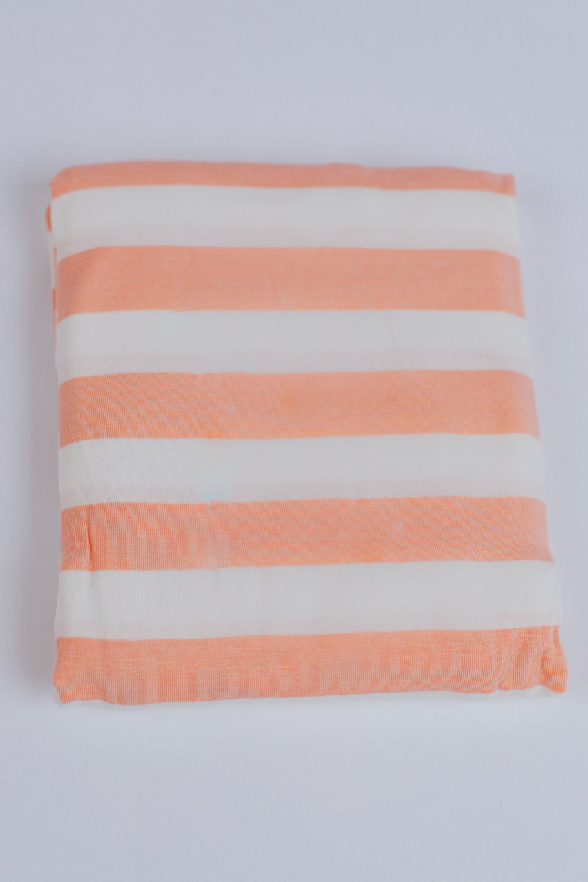 Peach and White Striped Versatile Cover | ROOLEE Kids