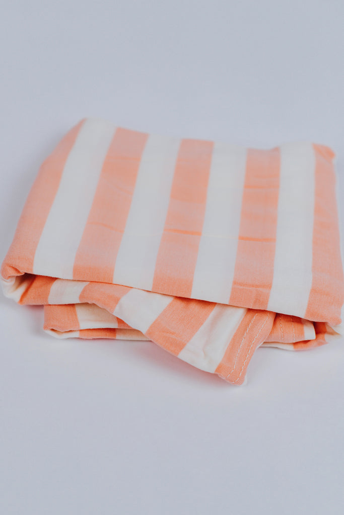Multi-Use Cover in Peach + White Stripe | ROOLEE Kids